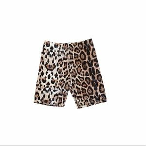 cheetah print tan black nude biker shorts small